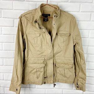 New York & Company khaki utility jacket large L